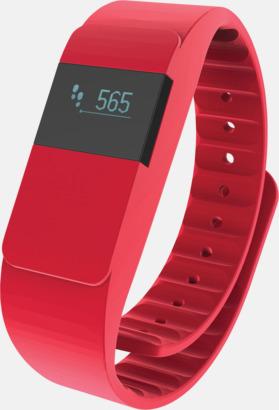 Röd Färgglada aktivitetsarmband med reklamtryck