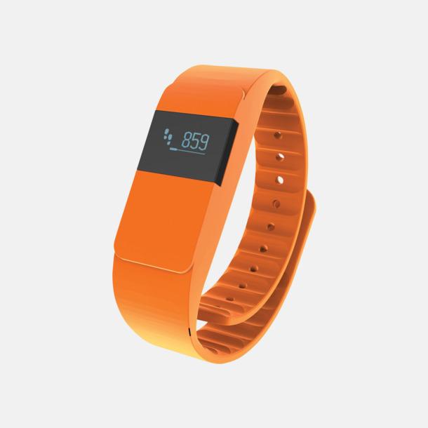Orange Färgglada aktivitetsarmband med reklamtryck