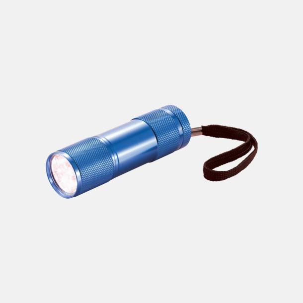 Blå Ficklampor i många färger med reklamtryck