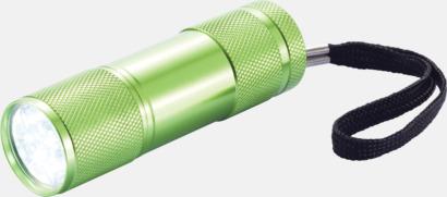 Grön Ficklampor i många färger med reklamtryck