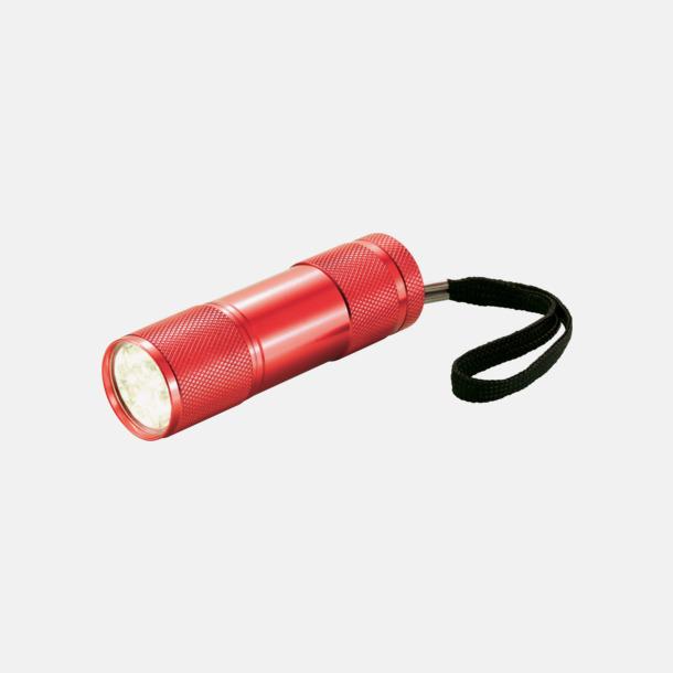 Röd Ficklampor i många färger med reklamtryck