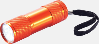 Orange Ficklampor i många färger med reklamtryck