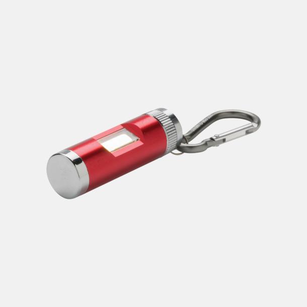 Röd COB-lampor med karbinhake med reklamtryck