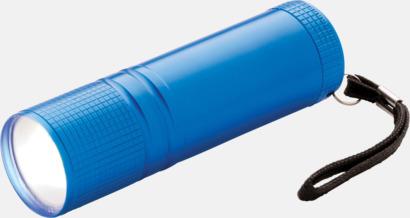 Blå Små COB-ficklampor med reklamtryck