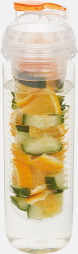 Orange Vattenflaskor med behållare - med reklamtryck