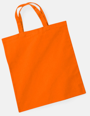 Orange (korta handtag) Tygkasse med tryck
