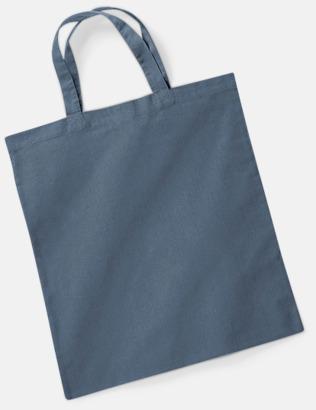 Graphite Grey (korta handtag) Tygkasse med tryck