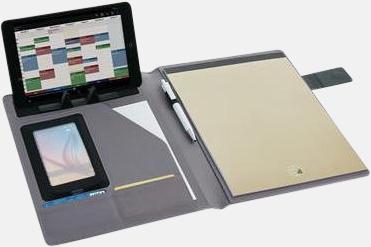 Enkla konferensmappar med plats för smartphone - med reklamtryck