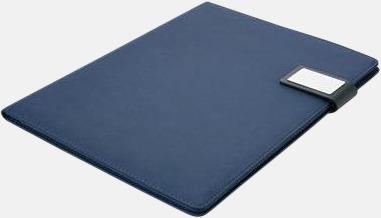 Blå Enkla konferensmappar med plats för smartphone - med reklamtryck
