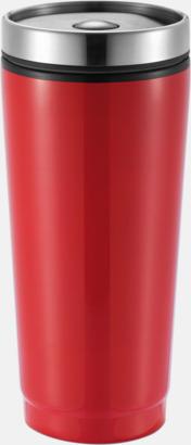 Röd Täta termosmuggar med reklamtryck