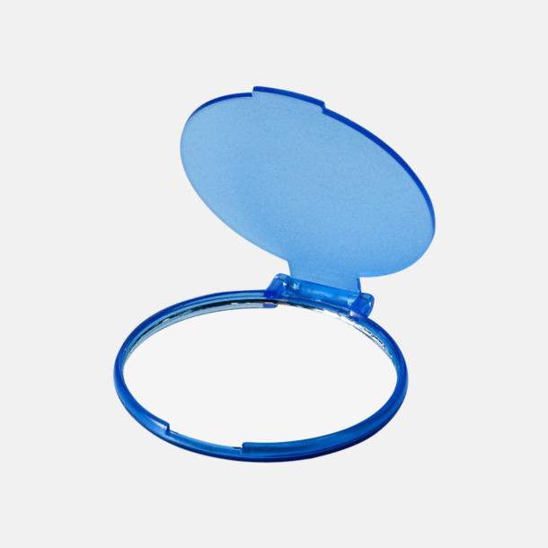 Transparent Blå Fickspegel med reklamtryck