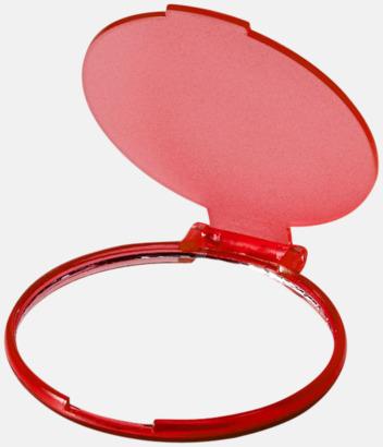 Transparent Röd Fickspegel med eget tryck