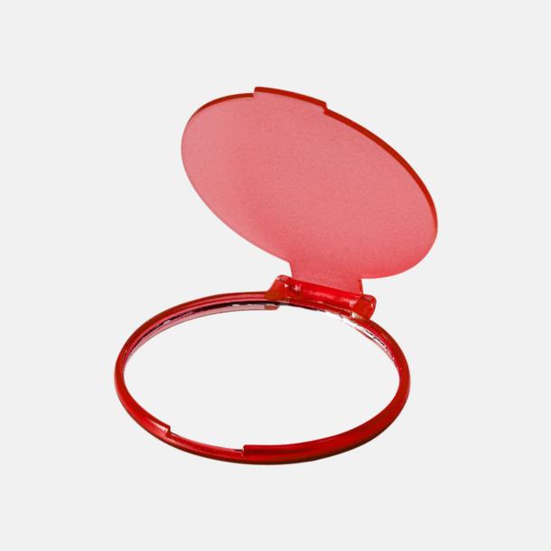 Transparent Röd Fickspegel med reklamtryck