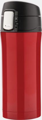 Röd Termosmuggar med låsbart lock med reklamtryck