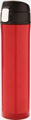 Röd Termos med låsbart lock med reklamtryck