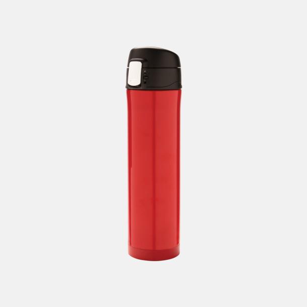 Röd/svart Termos med låsbart lock med reklamtryck