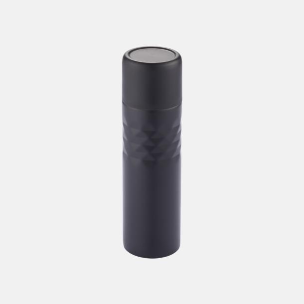 Svart 0,5 l termosflaskor med reklamtryck