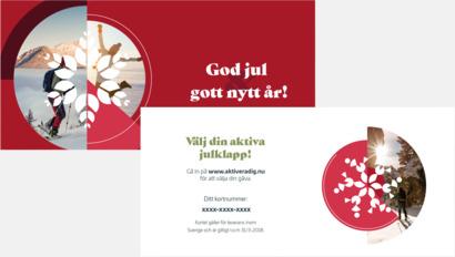 Kort Hälsosamt gåvokort stödjer en frisk generantion