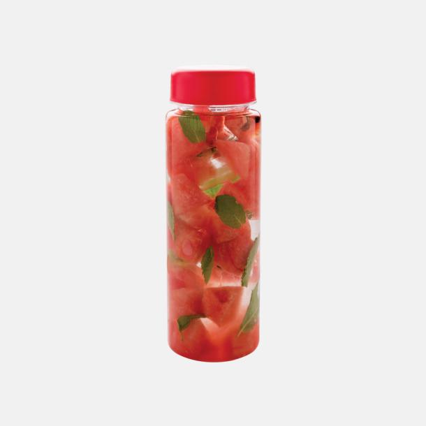 Röd Vattenflaskor med behållare - med reklamtryck