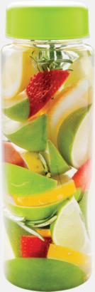 Limegrön Vattenflaskor med behållare - med reklamtryck