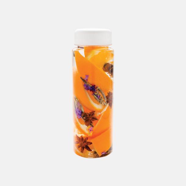 Vit Vattenflaskor med behållare - med reklamtryck