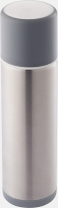 Vit Cylinderformade termosar med reklamtryck
