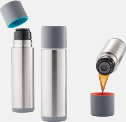 Cylinderformade termosar med reklamtryck