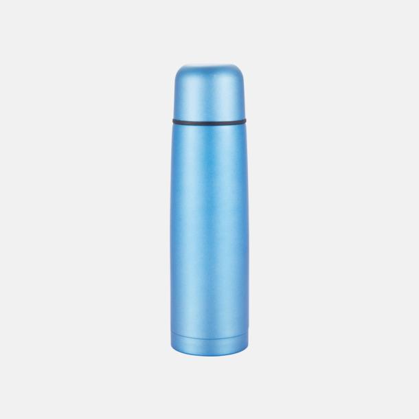 Blå Klassiska termosar med autokork - med reklamtryck