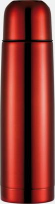 Röd Klassiska termosar med autokork - med reklamtryck