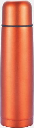 Orange Klassiska termosar med autokork - med reklamtryck