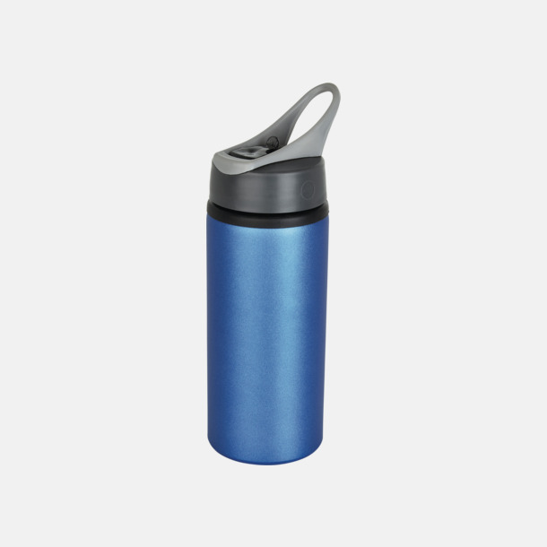 Blå 60 cl vattenflaskor i aluminium med reklamtryck