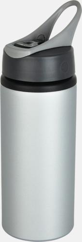 Grå 60 cl vattenflaskor i aluminium med reklamtryck