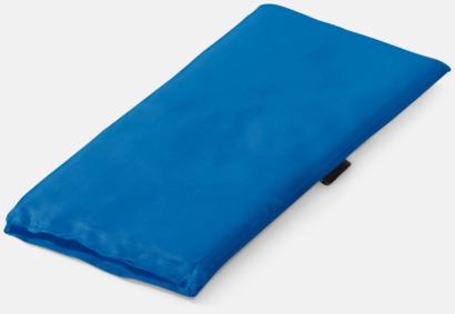 Blå Kudde för pakethållaren med reklamtryck