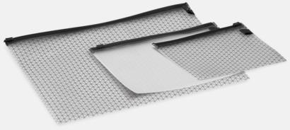 Transparent / Svart 3-delars mappar med reklamtryck