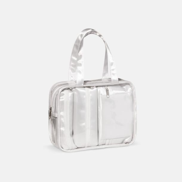 Vit 3 necessärer med väska