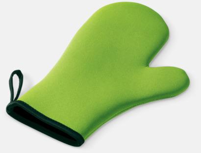Ljusgrön Grytvantar i neopren med reklamtryck