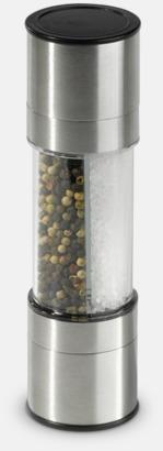 Silver Peppar- & saltkvarn i 1 med reklamtryck