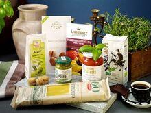 Italienska ekologiska delikatesser i låda