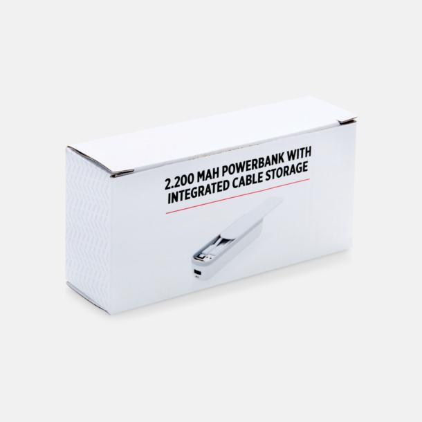 Presentförpackning Powerbank med inbyggt fack - med reklamtryck