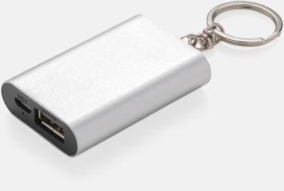 Silver Nöd-powerbanks med reklamtryck