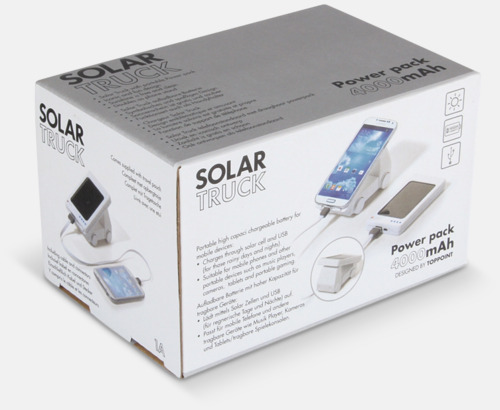 Presentförpackning Annorlunda solcellsladdare med reklamtryck