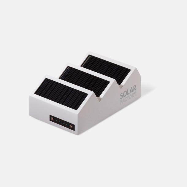 Vit Kraftfulla solcellsladdare med reklamtryck