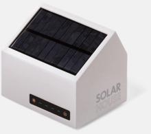 Husformade solcellsladdare med reklamtryck