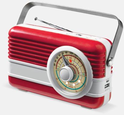 Röd / Vit Retro högtalare med reklamtryck