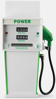 Vit / Grön Annorlunda powerbanks med reklamtryck