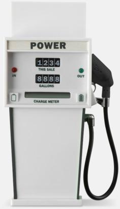 Vit / Svart Annorlunda powerbanks med reklamtryck
