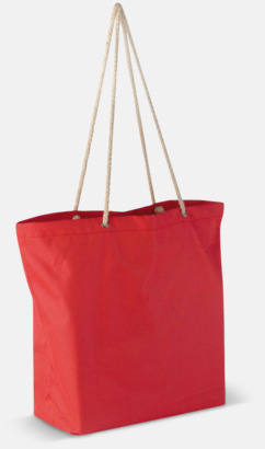 Röd Beachbag string med snörhandtag med reklamtryck