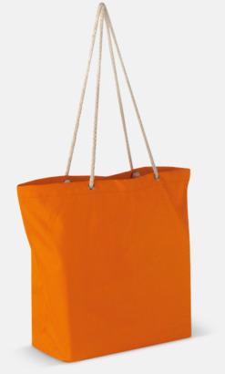 Orange Beachbag string med snörhandtag med reklamtryck