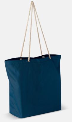 Mörkblå Beachbag string med snörhandtag med reklamtryck