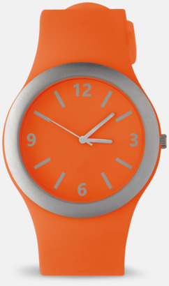 Orange Välj urtavla till silikonklockor med reklamtryck